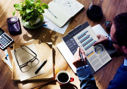 Businessman Working Calculator Balance Financial Planning Paperwork Concept